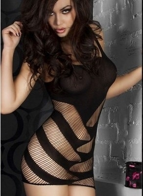 Picture of FISHNET DRESS BLACK