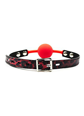 Slika: RED SILICONE BALL GAG LEOPARD